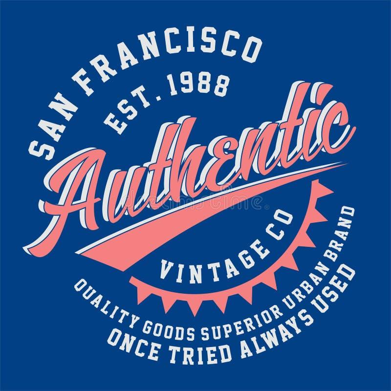 ANNATA AUTENTICA di SAN FRANCISCO grafica illustrazione vettoriale