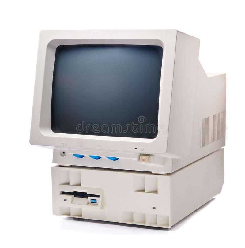 Annata con computer personale fotografie stock