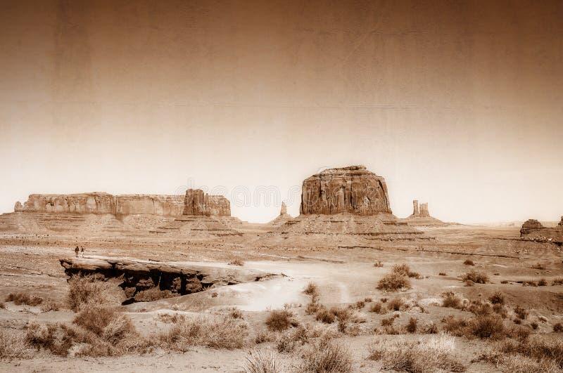 Annata, concetto artistico che mostra il vecchio ovest selvaggio immagine stock