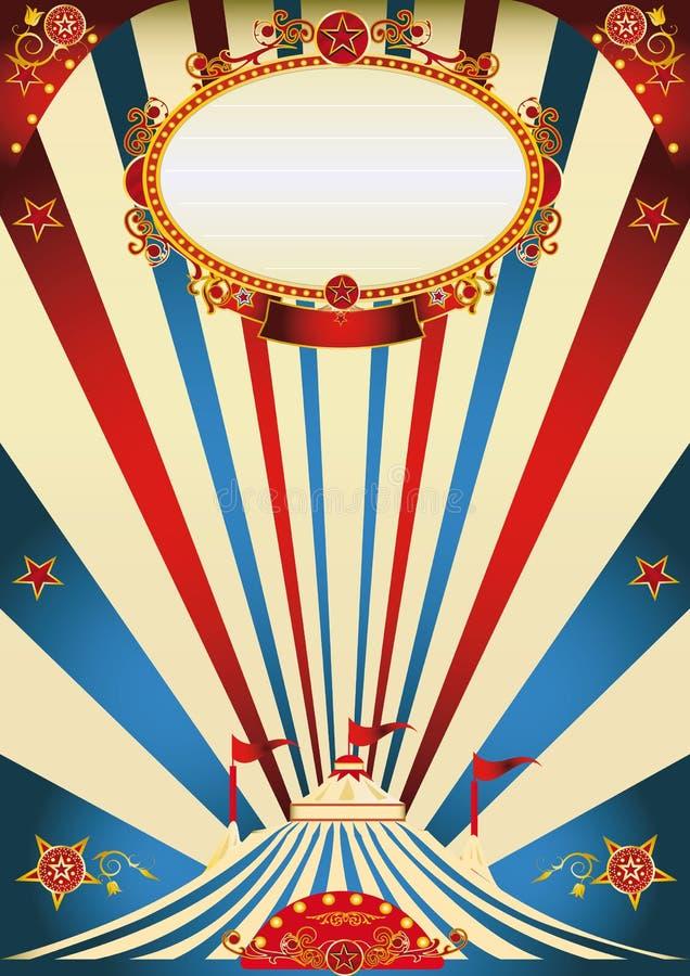 Annata del circo illustrazione di stock