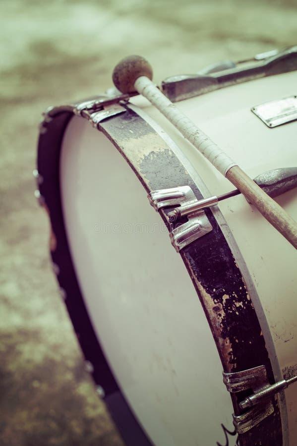 Annata del primo piano del tamburo immagini stock libere da diritti