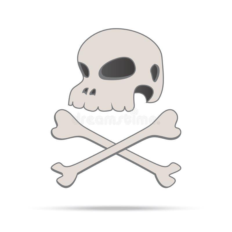Annata dell'essere umano e dell'osso del cranio  royalty illustrazione gratis
