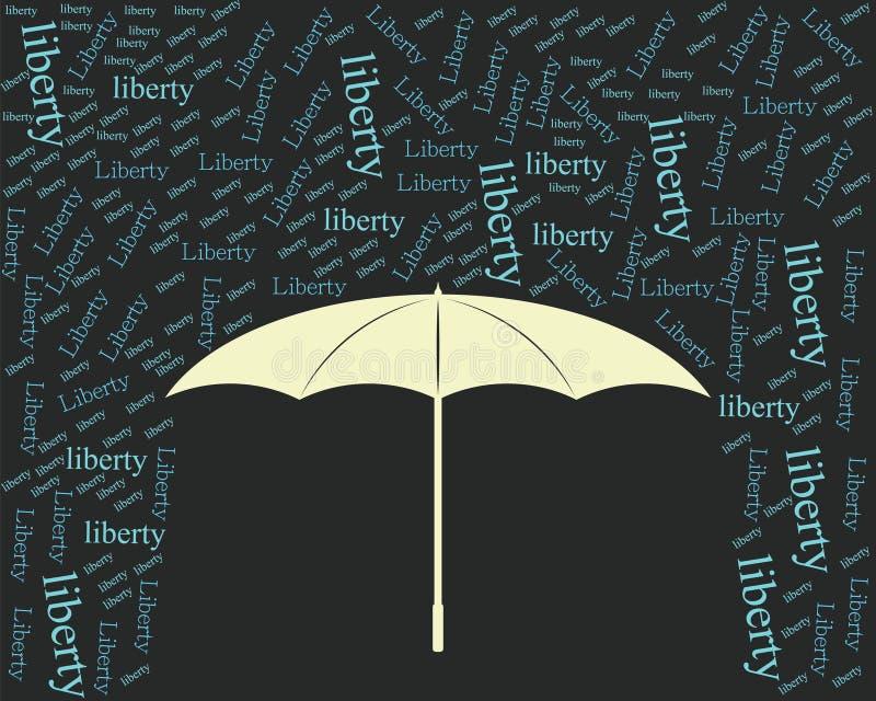 Annata dell'ombrello di libertà fotografia stock libera da diritti