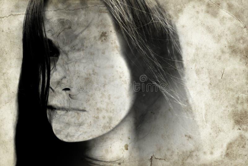 Annata della donna di orrore fotografia stock libera da diritti
