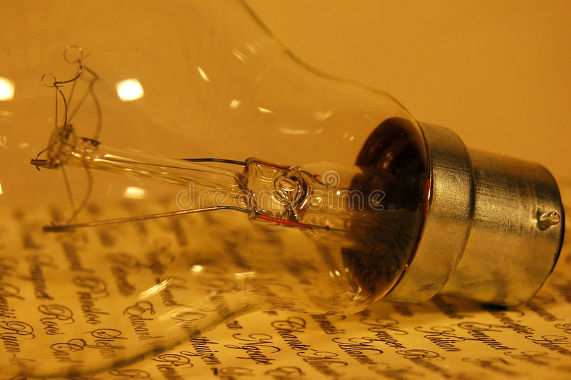 Annata della lampadina fotografie stock