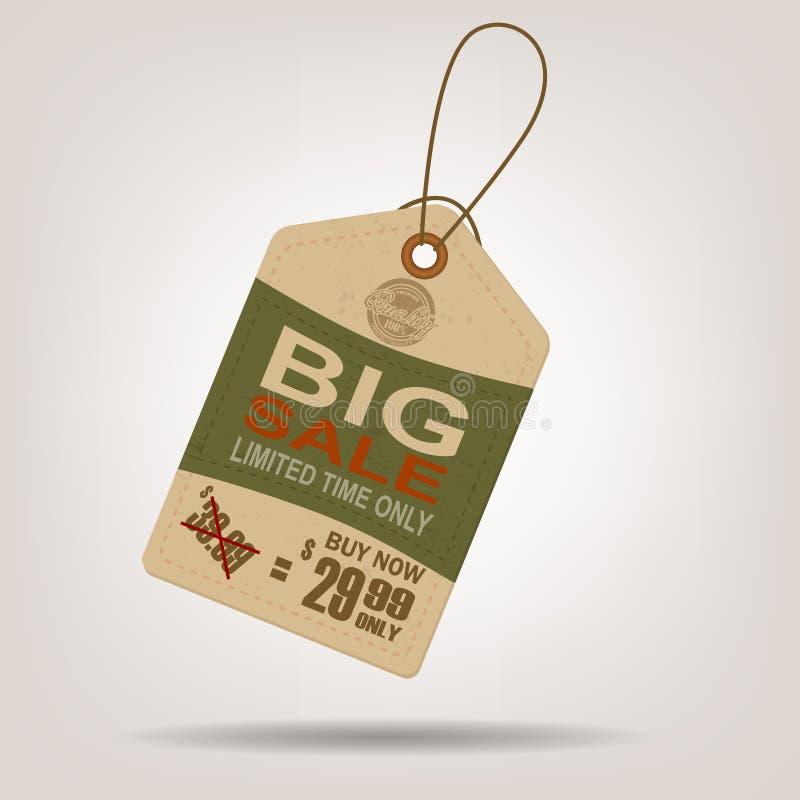 Annata di vendita dell'etichetta di vendita grande royalty illustrazione gratis