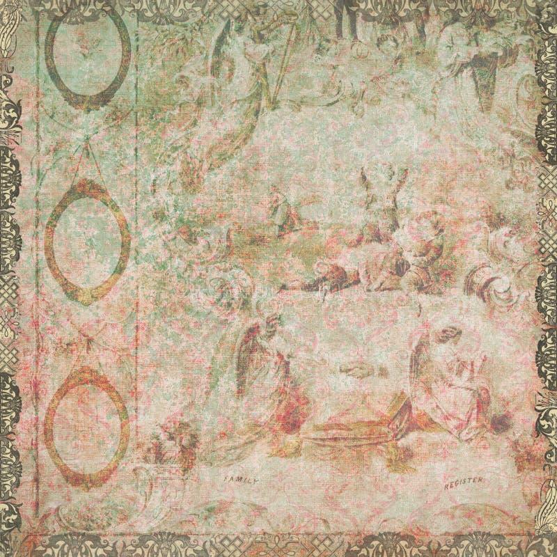 Annata floreale e carta da parati di angeli immagine stock for Carta da parati bohemian