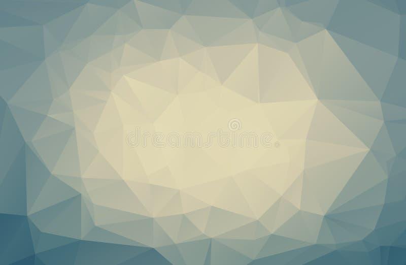 Annata geometrica astratta/fondo pastello/moderno dei poligoni triangolari Illustrazione di vettore Tre luminoso del retro triang illustrazione di stock