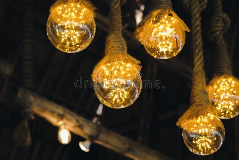 Annata moderna della decorazione del fondo di progettazione della decorazione leggera interna della lampada immagini stock libere da diritti