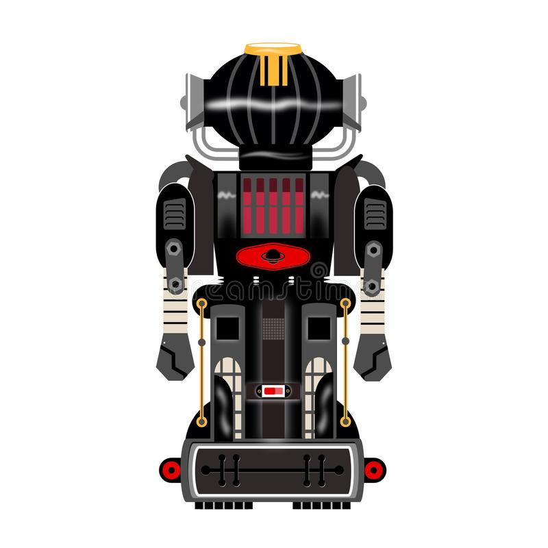 Annata nera del robot immagini stock