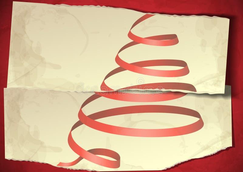 Annata, nuovo anno Grungy, cenni storici di Natale. illustrazione di stock