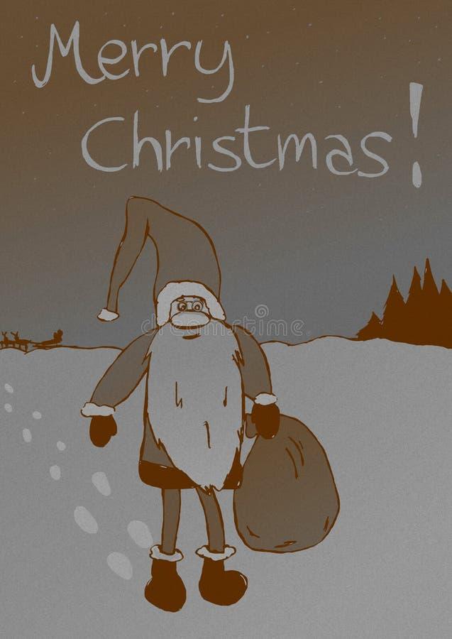 Annata occupata di Santa Claus illustrazione vettoriale