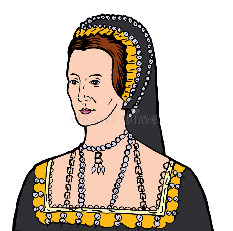 Anne Boleyn ilustração do vetor