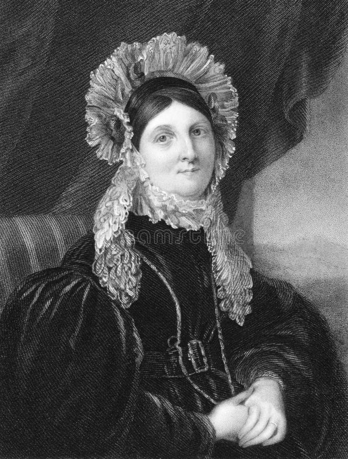Anne Denman. On engraving from 1844. John Flaxman's wife. Engraved by J.Cochran after a picture by Gent and published by P.Jackson, London & Paris stock photography
