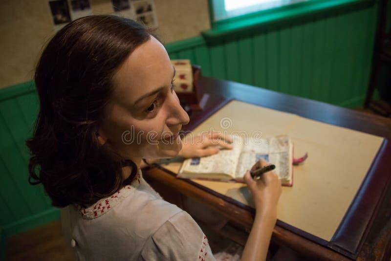 Anne Frank dans le musée de Madame Tussauds images libres de droits