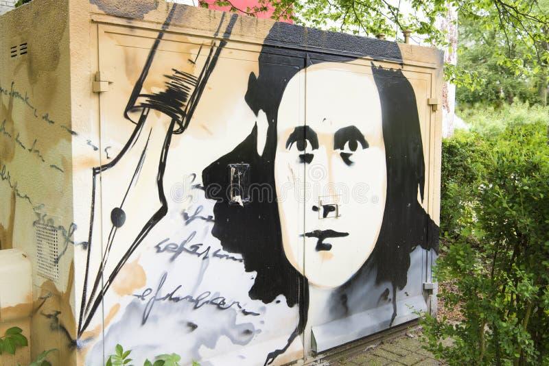 Anne Frank-het schilderen royalty-vrije stock afbeelding