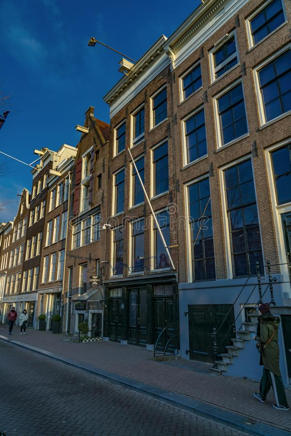 Anne Frank House in Amsterdam stock afbeelding