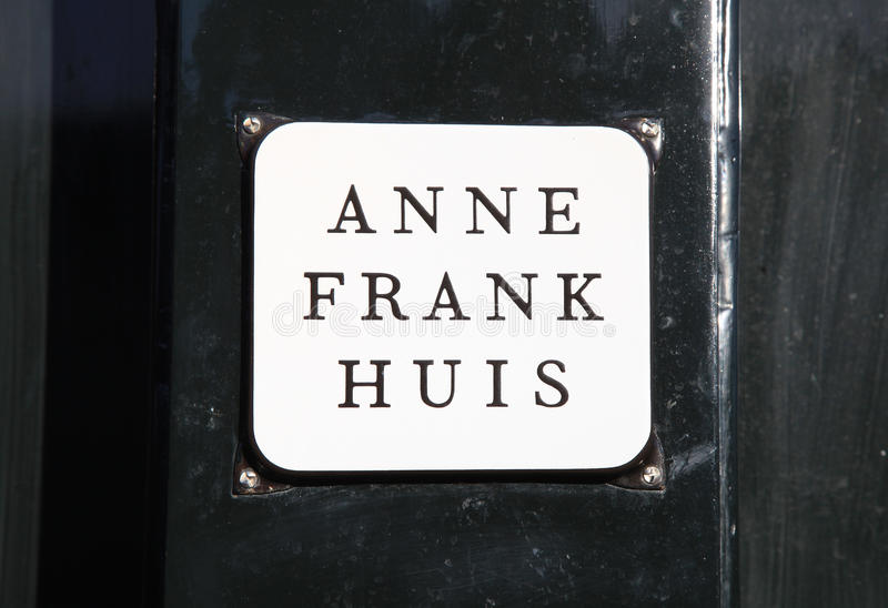 Anne Frank House Amsterdam, Nederländerna arkivfoto