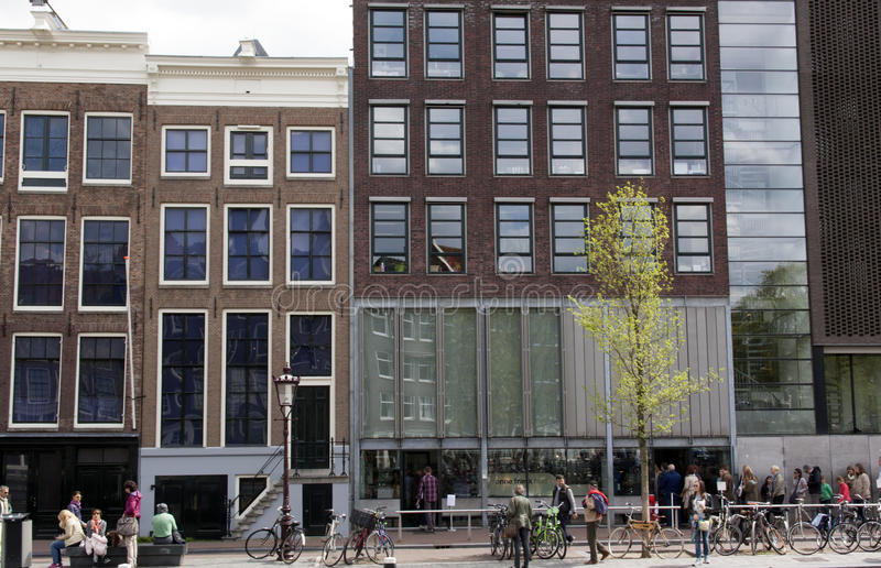 Anne Frank house in amsterdam the netherlands stock photos