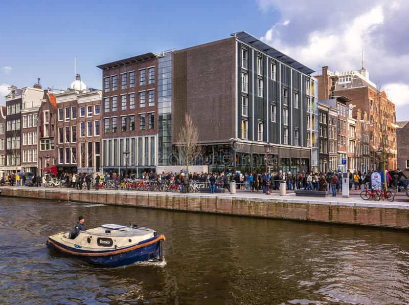 Anne Frank hus royaltyfria foton