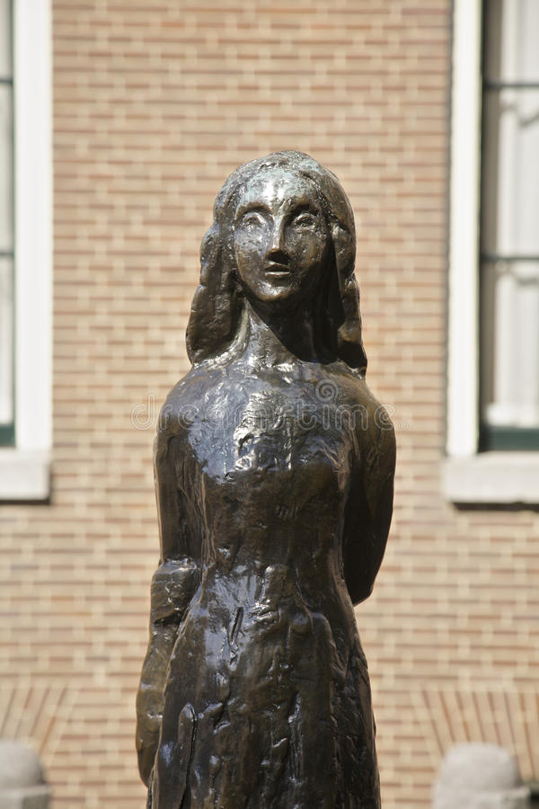 Anne Frank i Amsterdam arkivbild