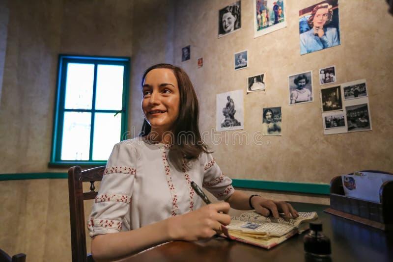 Anne Frank, Madame Tussauds zdjęcia stock