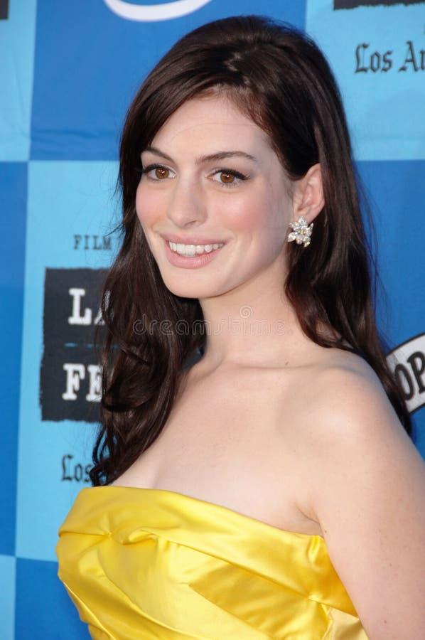 Anne Hathaway imagem de stock