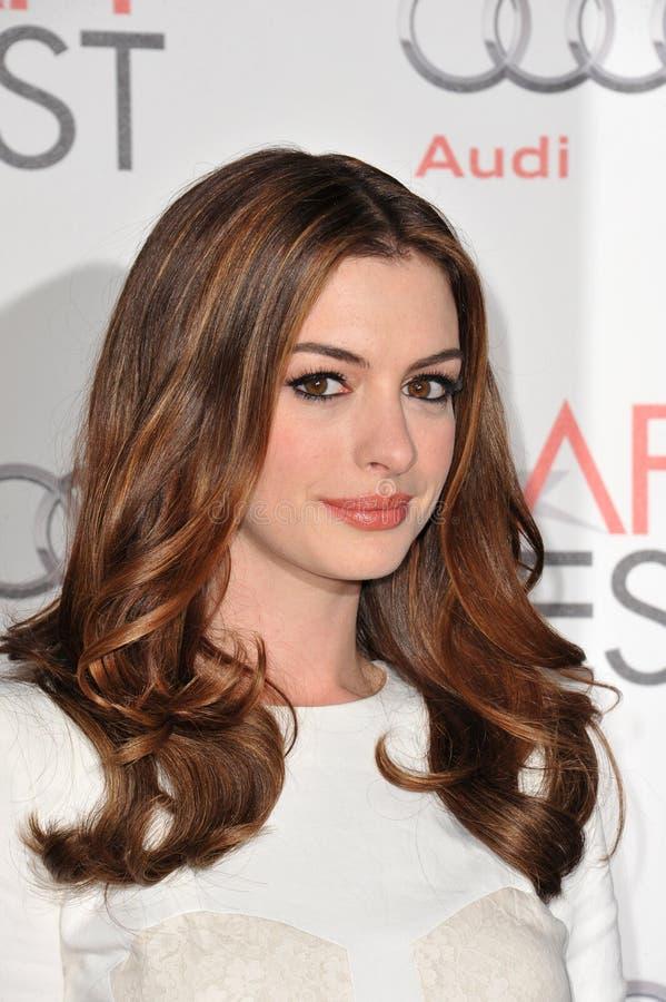 Anne Hathaway lizenzfreie stockbilder