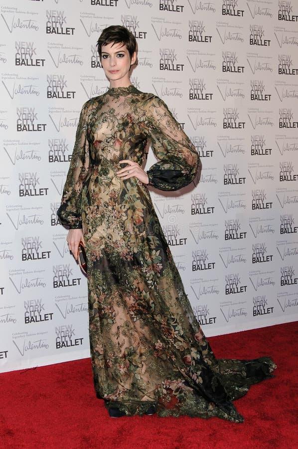 Anne Hathaway   imagen de archivo libre de regalías