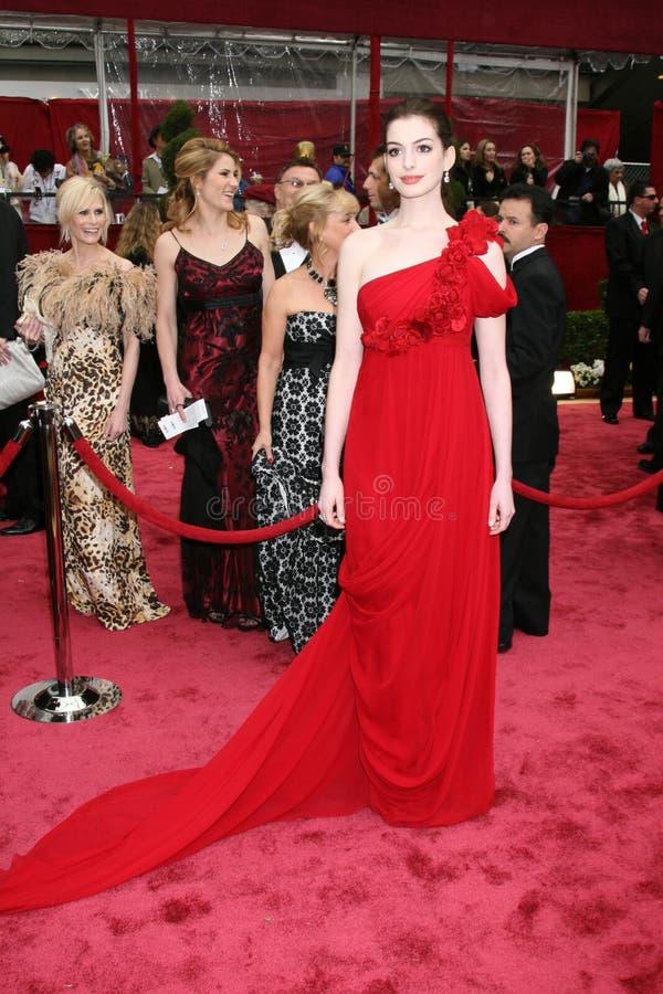 Anne Hathaway foto de archivo libre de regalías