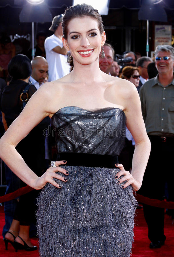 Anne Hathaway royalty-vrije stock foto's