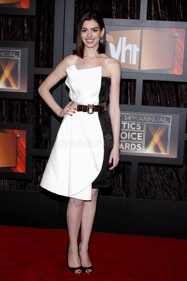 14th Annual Critics` Choice Awards. Anne Hathaway at the 14th Annual Critics` Choice Awards held at the Santa Monica Civic Center in Santa Monica on January 8 stock photography