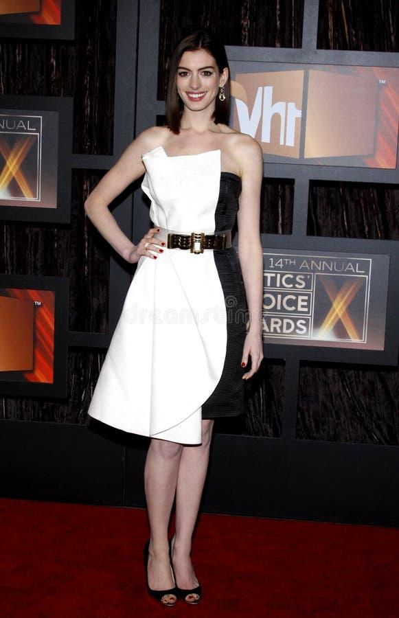 14th Annual Critics` Choice Awards. Anne Hathaway at the 14th Annual Critics` Choice Awards held at the Santa Monica Civic Center in Santa Monica on January 8 royalty free stock photo