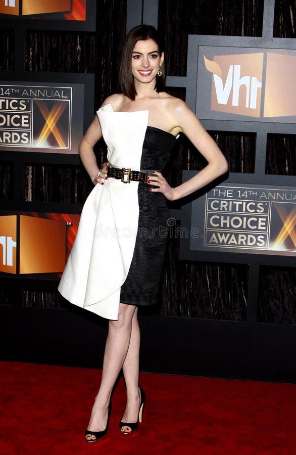 14th Annual Critics` Choice Awards. Anne Hathaway at the 14th Annual Critics` Choice Awards held at the Santa Monica Civic Center in Santa Monica on January 8 royalty free stock image