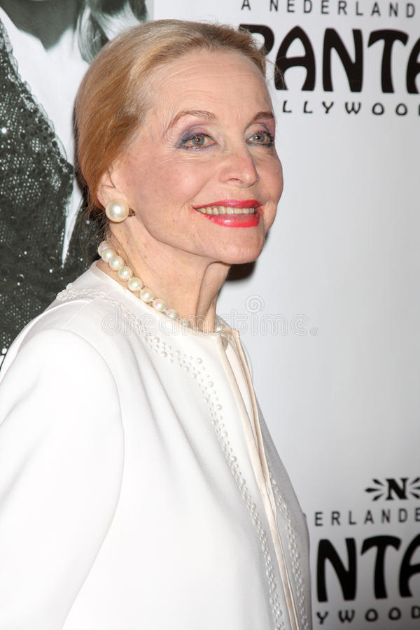 Anne Jeffreys arrives at the Opening Night of the Play