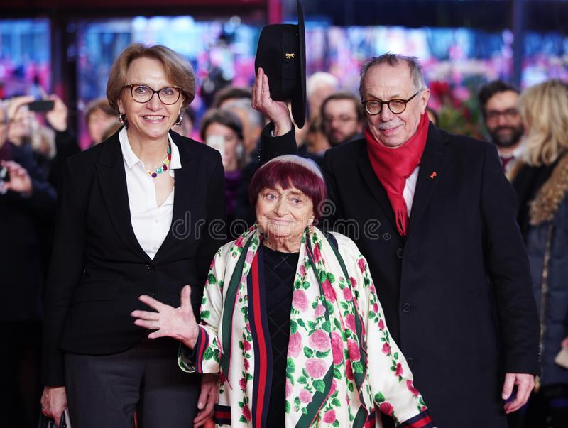 Anne-Marie Descotes Agnes Varda, Dieter Kosslick arkivbilder