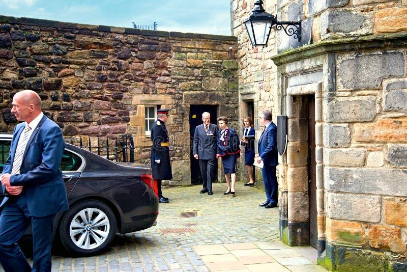 Anne, princesse Royal dans Edinburg photo libre de droits