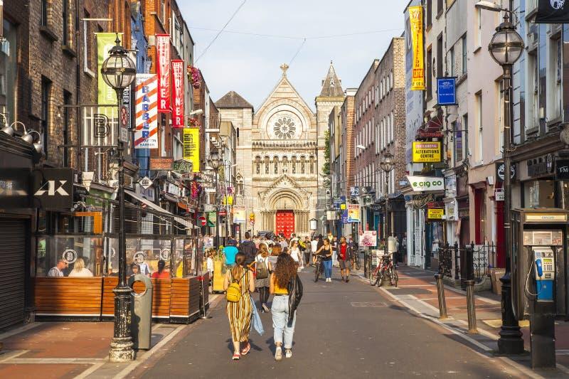 Anne Street i Dublin, Irland royaltyfria bilder