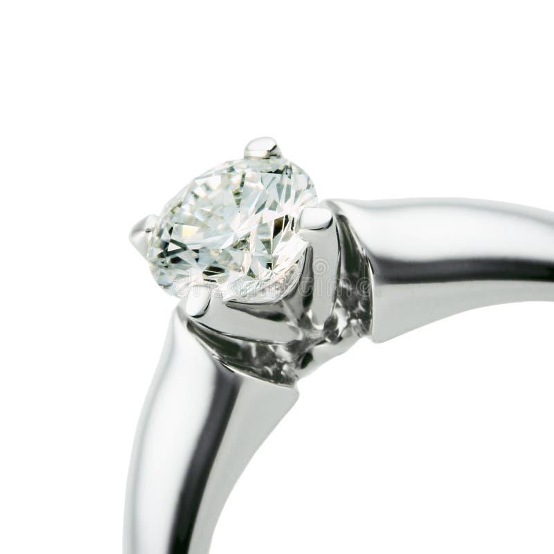 Anneau avec le diamant images libres de droits