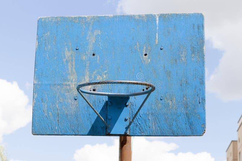 anneau bleu de basket-ball photo stock