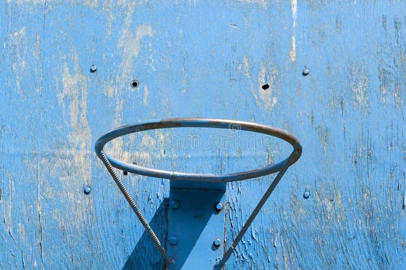 anneau bleu de basket-ball photo libre de droits
