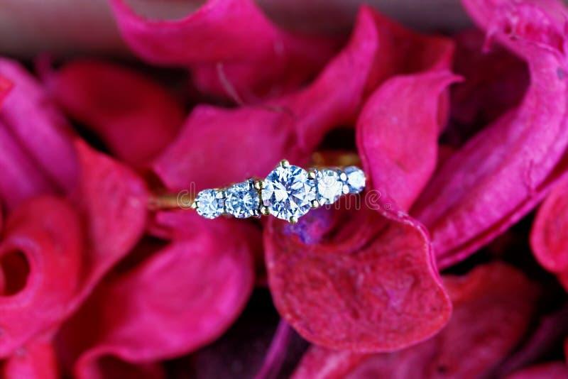 Anneau d'enggagement de diamant photo libre de droits