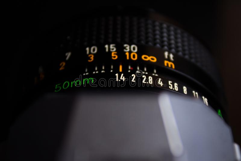 Anneau d'ouverture de 50mm 1 lentille de 4 canons photos libres de droits