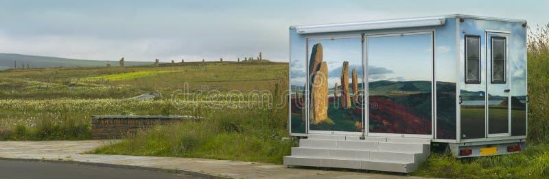 Anneau de Brodgar Cercle en pierre préhistorique dans les Orcades l'ecosse photos libres de droits