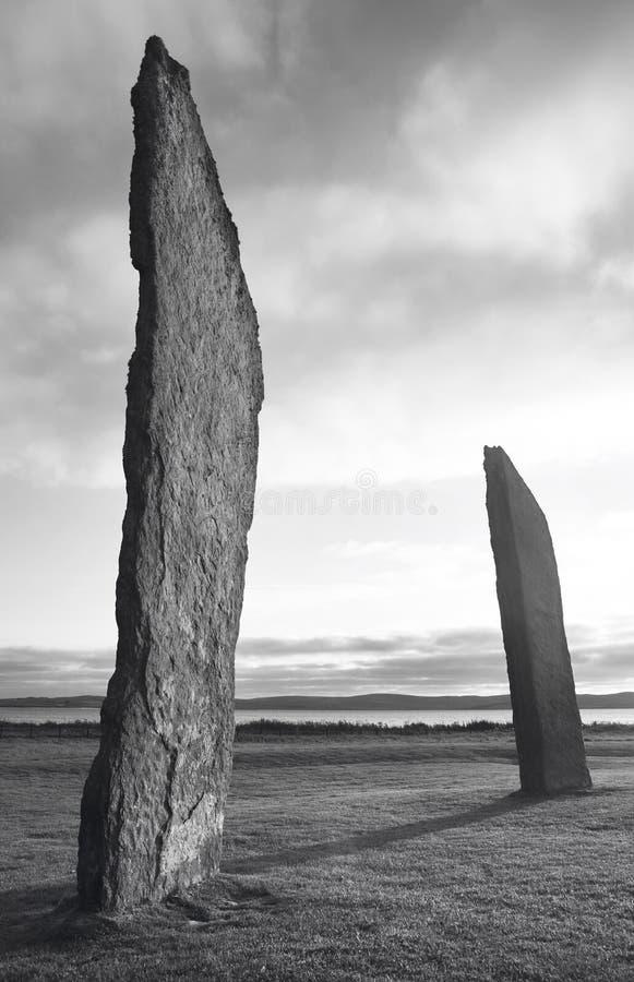 Anneau de Brodgar Cercle en pierre préhistorique dans les Orcades l'ecosse image stock