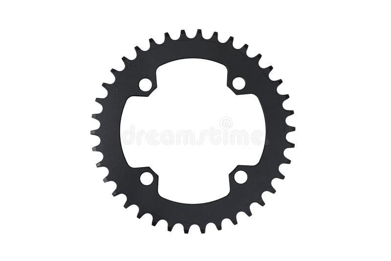 Anneau de chaîne de bicyclette avec 38 dents image stock