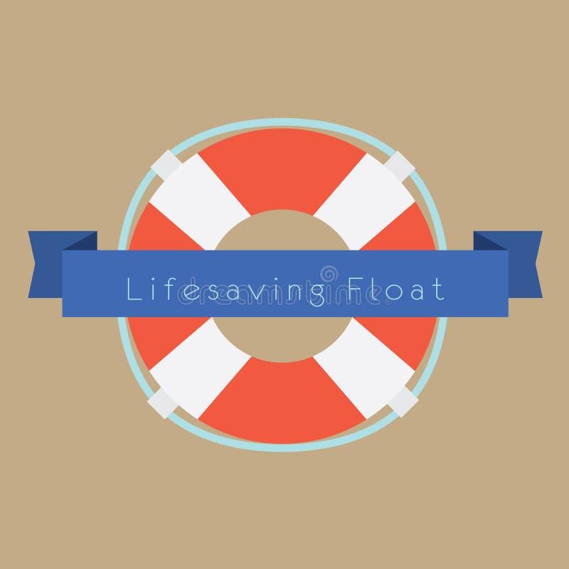 Anneau de flotteur de sauvetage illustration de vecteur