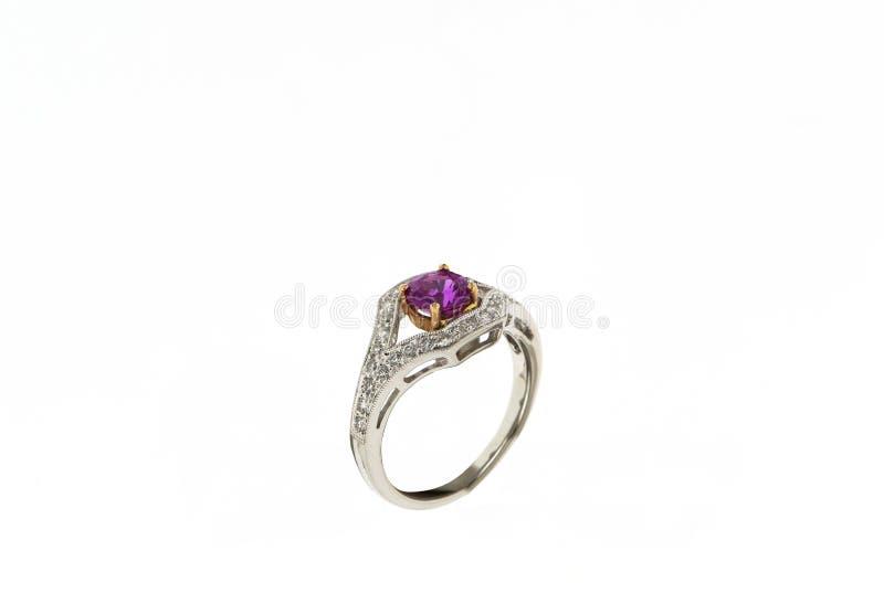 anneau de mariage de fiançailles image stock