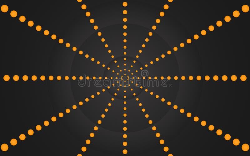 Anneau des points oranges, conception graphique - papier peint illustration libre de droits