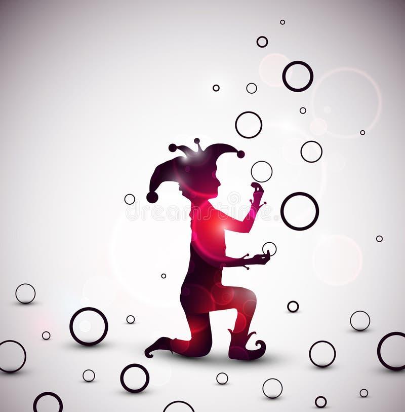 Anneaux de jonglerie de farceur illustration libre de droits